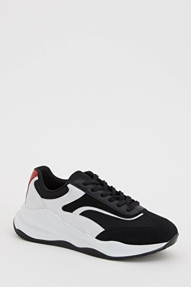 DeFacto Sneaker Bağcıklı Spor Ayakkabı Siyah